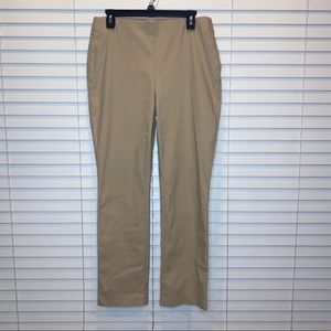 So slimming by Chico's tan pull on pant